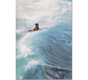 Gina Foster Surfer Single Matted Print