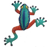 Funky Climbing Frog Wall Hanging 8 Inch Frog 13