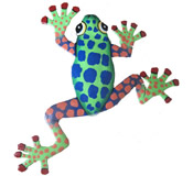 Funky Climbing Frog Wall Hanging 8 Inch Frog 14