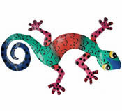 Gecko Wall Hanging 8 Inch - G11