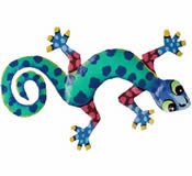 Gecko Wall Hanging 8 Inch - G12