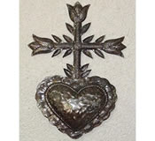 The Holy Cross Recycled Metals Wall Hanging