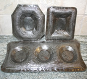 Set of 3 Decorative Metal Trays