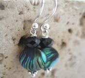 Abalone Swarovski Crystal Earrings