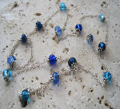 Shades of Blue - Sterling Silver Necklace