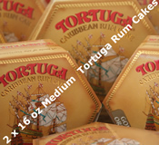 Two 16oz Medium Tortuga Rum Cakes - Choice of Flavours