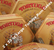 Two 33oz Large Tortuga Rum Cakes - Choice of Flavours