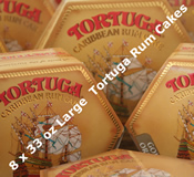Eight 33oz Large Tortuga Rum Cakes - Choice of Flavours